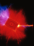 Kirlian photograph of an electrical current.
