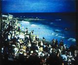 Crowded Beach, 1906.
