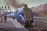 'Mallard', LNER No. 4468, steaming into King's Cross, London, late 1930's.