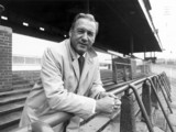 Nat Lofthouse, caretaker manager of Bolton Wanderers, 1985.