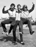 Willie Miller, Alex McLeish and Gordon Strachan, c 1980s.