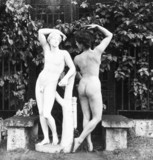 Nude with classical statue, c 1959.
