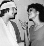 Carlo Imperato and Debbie Allen from 'Fame', April 1983.