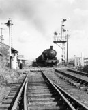 Steam locomotive with empty coal wagons, Sunderland.