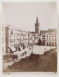 Market square, Seville, c 1849.