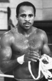 Lloyd Honeyghan, British boxer, April 1987.