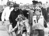 Princess Anne with Peter and Zara at West Kirby Yacht Club, October 1988.