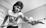 Kirk Stevens, Canadian snooker player, Derby, September 1985.