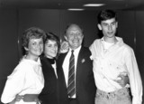 Glenys and Neil Kinnock with children Rachel and Stephen, June 1987.