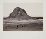 'The Southern Brick Pyramid of Dahshoor, from the West', c 1860s.