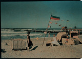 Beach scene with flag, 1925.