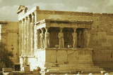 The Caryatids of the Erechtheion on the Acropolis, Athens, c 2004.