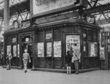 Boots kiosk, Waterloo Station, London, c 1950s.