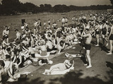 Sunbathers at the Serpentine Lido, 23 June 1935.