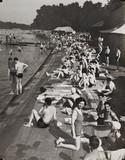 Heat wave scene at Hyde Park, 1937.