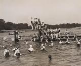 Scene at Serpentine Lido, 23 June 1935.