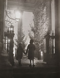 Children looking at a Christmas tree, Trafalgar Square, 19 December 1937.