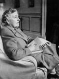 Agatha Christie, English crime writer, 9 March 1946.
