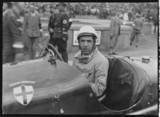 Battilana in an Alfa Romeo Monza racing car, Nurburgring, 1930s.