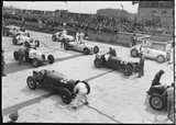 Racing cars on the starting grid, German Grand Prix, Nurburgring, 1934.