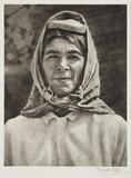 Woman wearing a headscarf, c 1935.;