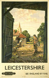 'Leicestershire', BR poster, 1950s.