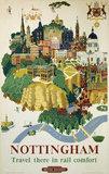 'Nottingham', BR poster, 1953.