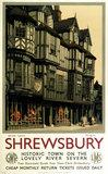 'Shrewsbury', GWR/LMS poster, 1939.