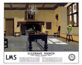 'Sulgrave Manor', LMS poster, 1923-1947.