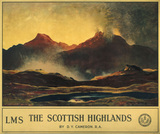 'The Scottish Highlands', LMS poster, 1924.