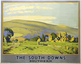 'The South Downs', SR poster, 1946.