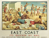 'East Coast', LNER poster, 1932.