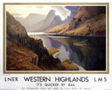 'Western Highlands', LNER/LMS poster, c 1935.