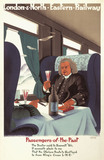 'Passengers of the Past', LNER poster, 1929.