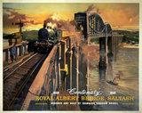 'The Royal Albert Bridge, Saltash', BR (WR) poster, 1958.