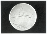 Small silver disc with glider design by Sir George Cayley, 1799.