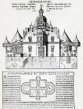 Tycho Brahe's Uraniborg Observatory, Denmark, 1602.