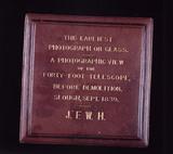 Case for glass negative by John Herschel, 1839.