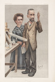 Pierre and Marie Curie, French physicists, 1904.