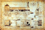 Stephenson's 'Long Boiler' locomotive, 1841.