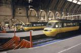 BR Inter-City 125 diesel locomotives at King's Cross, London, c 1980s.