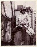 Portrait of a fisherman, c 1900.