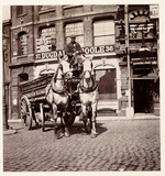 A horse-drawn delivery wagon, c 1895.