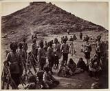 'Halt of Prisoners From Bassaule...', c 1878.
