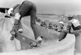 Skaters at the Inter City Truckers Skateboard park, Chester, 26 April 1978.