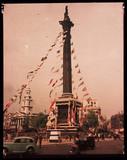 Trafalgar Square, London, 1945.