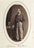 'Charles Dickens', c 1865.