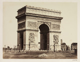 The Arc de Triomphe, Paris, c 1865.