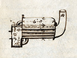 Detail of 'Rocket', side view, from Rastrick's notebook, 1829.