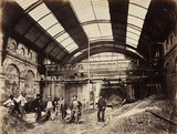 Constructing Praed Street Station, London, c 1867.
